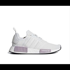 White & maybe/purple adidas NMD R 1
